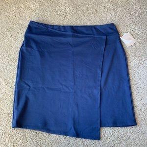 NWT 14th & Union Faux Wrap Navy Skirt